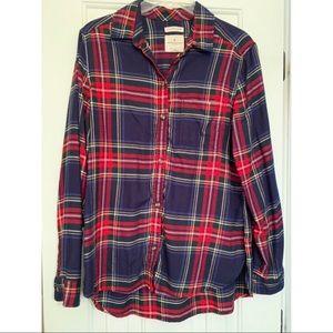 American Eagle Medium Long Sleeve Plaid Shirt soft